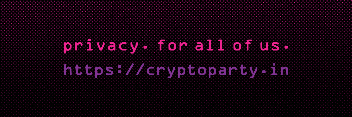 privacy. for all of us. https://cryptoparty.in